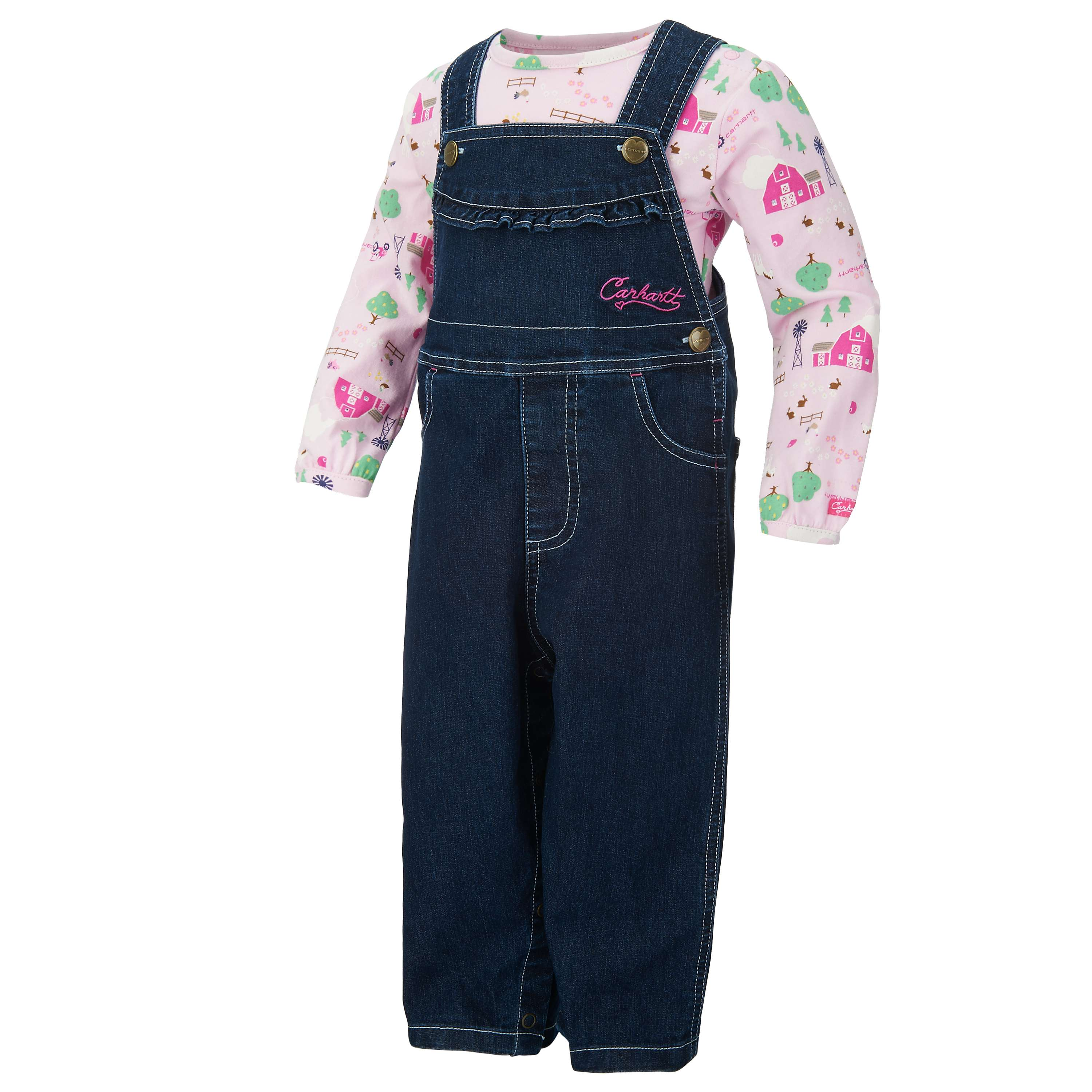 Carhartt Little Pink Barn Overall Set