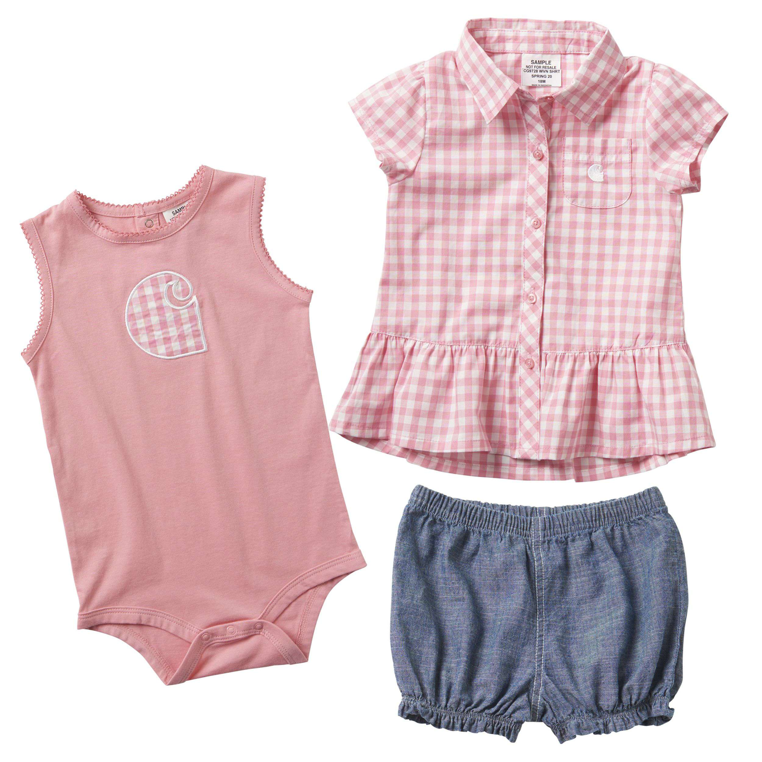 3-Piece Plaid Short Gift Set