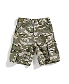 Boys Washed Camo Ripstop Short