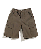 Boys Washed Ripstop Cargo Short