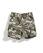 Boys Infant/Toddler Washed Camo Ripstop Short