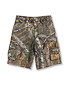 Boys' Washed Work Camo Ripstop Cargo Short