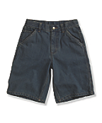 Boys' Washed Denim Dungaree Short