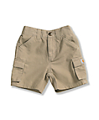 Infant Toddler Boys'  Dark Khaki Washed Ripstop Cargo Short