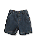 Infant Toddler Boys' Washed Denim Dungaree Short