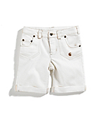 Girls Washed 5-Pocket Denim Bermuda Short