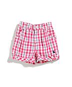 Girls Infant/Toddler Woven Plaid Short