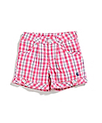 Girls Woven Plaid Short