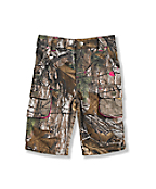 Girls' Washed Camo Short
