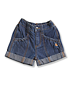 Infant Toddler Girls' Washed Denim Short