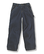 Boys' Washed Denim Dungaree Pant