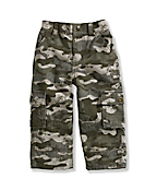 Infant/Toddler Boy's Washed Cargo Pant