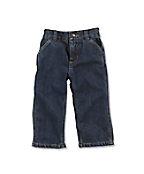 Infant Toddler Boy's Washed Denim Dungaree