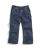 Girls Washed Denim Dungaree Pant