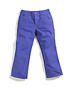 Girls Washed Duck Dungaree Pant