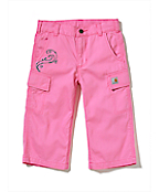 Girls Washed Cargo Capri