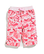 Girls Infant/Toddler Washed Camo Printed Ripstop Capri