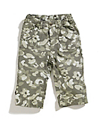 Girls Washed Printed Camo Ripstop Capri