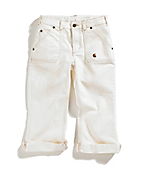 Girls Washed 5-Pocket Denim Crop Pant