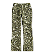 Girl�s Washed Printed Camo Ripstop Pant