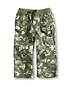 Infant/Toddler Girl�s Washed Printed Camo Ripstop Pant