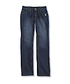Girl's Washed 5-Pocket Denim Jean