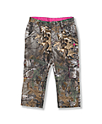Girls' Washed Camo Cropped Pant