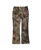 Girls' Washed Camo Pant