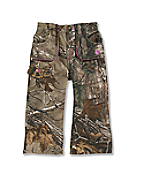 Infant/Toddler Girls' Washed Camo Canvas Pant