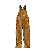 Boys Duck Washed Bib Overall - Sizes 8-16