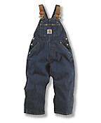 Boys Denim Washed Bib Overall -  Sizes 8-16