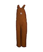 Boys Duck Washed Bib Overall - Sizes 4-7