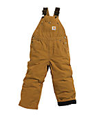 Boys Washed Duck Lined Bib Overall - Sizes 8-16