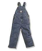 Boys Denim Washed Bib Overall - Sizes 4-7