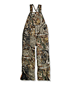 Boys Camo Washed Duck Lined Bib Overall