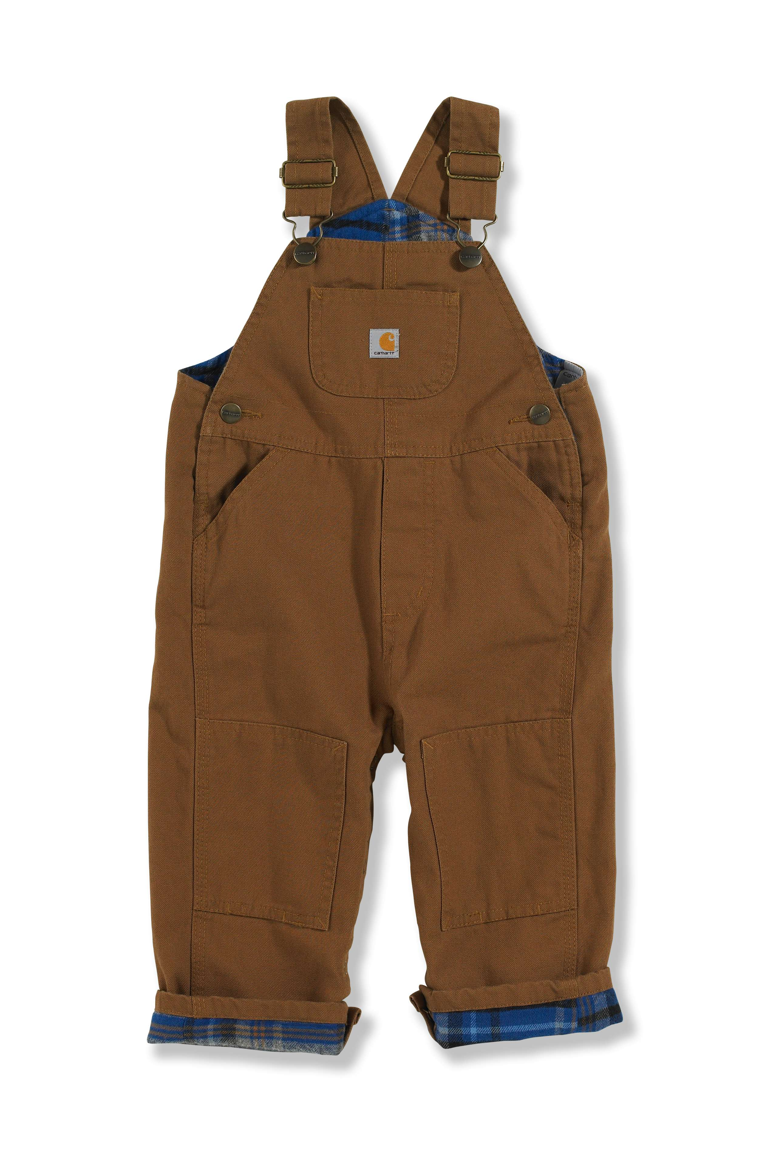 Carhartt Canvas Bib Overall Flannel-Lined