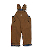 Infant Toddler Boy's Washed canvas Bib Overalls