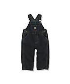 Infant Toddler Boy's Washed Denim Bib Overalls