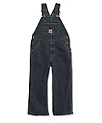 Boy's Washed Denim Bib Overall