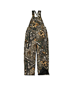 Boy's Washed Camo Bib OverallP