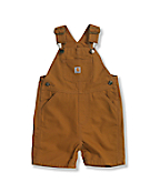 Infant Toddler Boys' Washed Canvas Bib Shortall