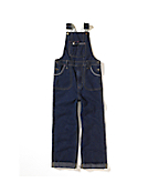 Girl's Washed-Denim Overall