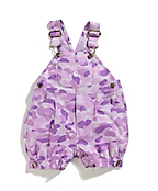 Girls Infant/Toddler Washed Camo Printed Ripstop Shortall