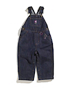 Girls Infant/Toddler Washed Denim Bib Overall
