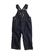 Infant/Toddler Girl�s Washed Denim Bib Overall
