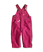Infant/Toddler Girl�s Washed Canvas Bib Overall