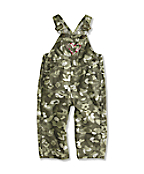 Infant/Toddler Girls' Washed Printed Camo Ripstop Bib Overall