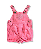 INFANT GIRL'S CANVAS SHORTALL