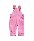 Infant/Toddler Girls' Washed Microsanded Canvas Overalls