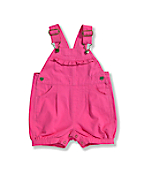 Infant Toddler Girls' Washed Canvas Shortall